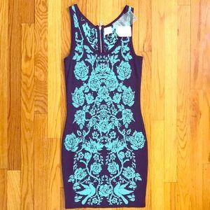 NWT TORN BY RONNY KOBO Knit Bodycon Mini Dress